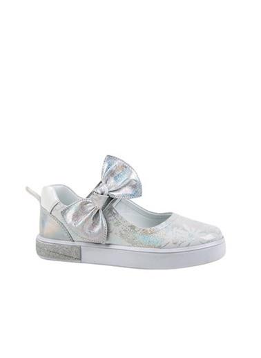 Kids A More Martha Tek Cırtlı Fiyonklu Deri Kız Çocuk Babet Ayakkabı  Gümüş